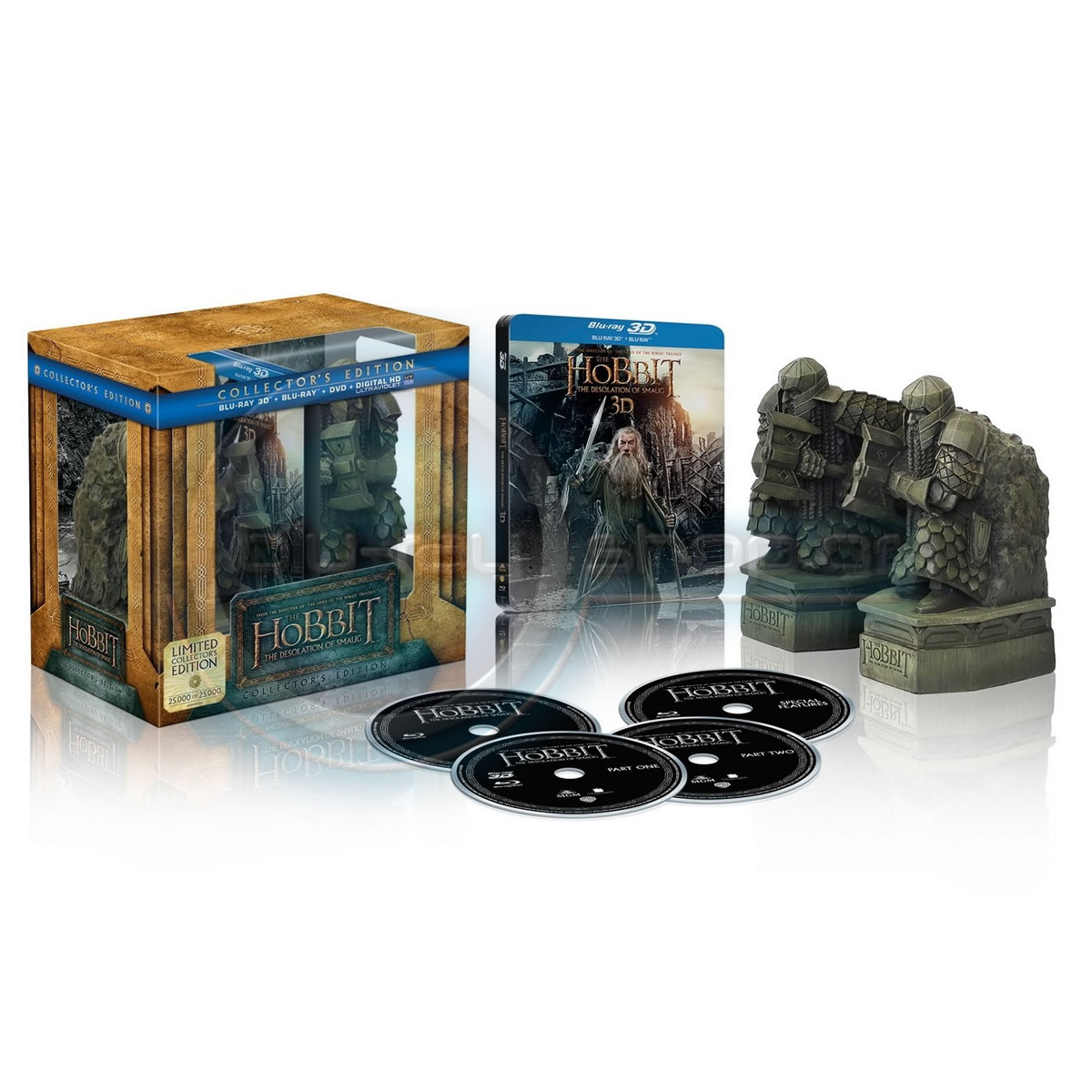 THE HOBBIT: THE DESOLATION OF SMAUG 3D Limited Collector's Edition Steelbook + BOOKENDS [Imported] (2 BLU-RAY 3D + 2 BLU-RAY)