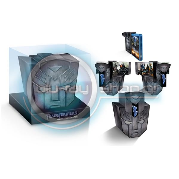 TRANSFORMERS 3-MOVIE BLU-RAY COLLECTION - BIG HEAD EDITION (3 BLU-RAYs)