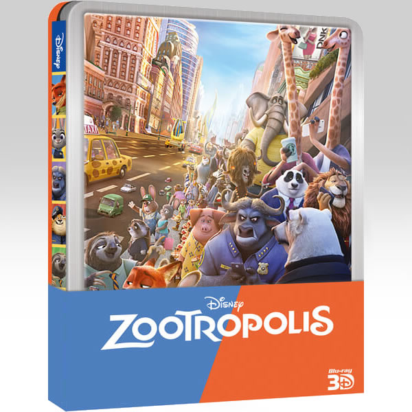 ZOOTROPOLIS 3D - �������� 3D Limited Edition Steelbook ������������ [�� ���������� ���������� �� 2D] (BLU-RAY 3D + BLU-RAY) & ��������������� �� 2D