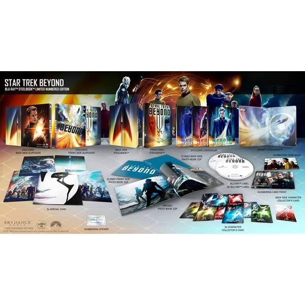 STAR TREK: BEYOND 3D Limited Collector's Numbered Edition Steelbook + PHOTOBOOK + CARDS (BLU-RAY 3D + BLU-RAY)