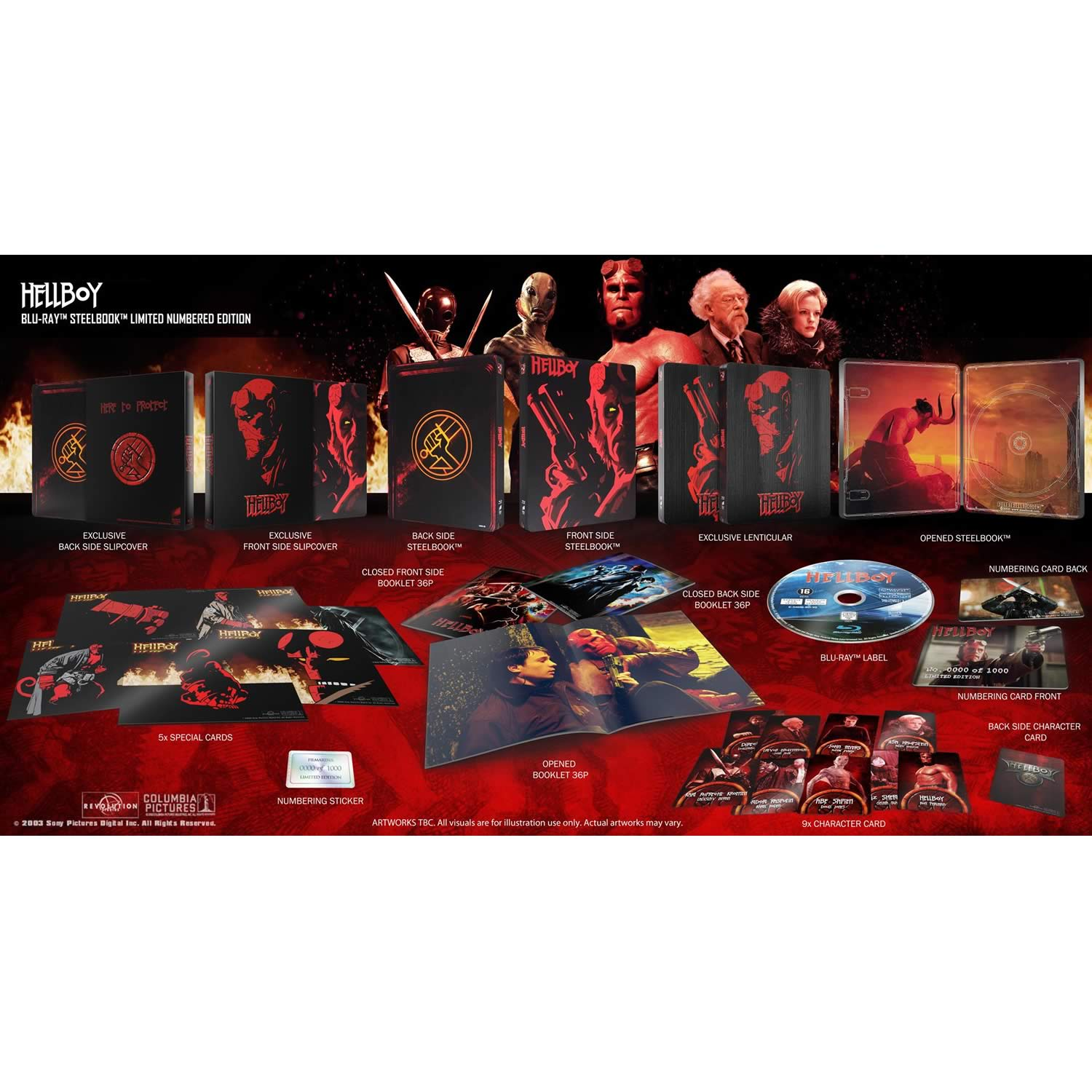 HELLBOY - Ο ΗΡΩΑΣ ΤΗΣ ΚΟΛΑΣΗΣ Limited Collector's Numbered Edition Steelbook + BOOKLET + CARDS (BLU-RAY)