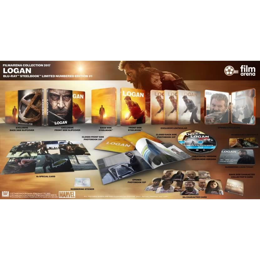LOGAN Theatrical & Noir Limited Collector's Numbered Edition Steelbook + PHOTOBOOK + Special & Character CARDS (2 BLU-RAY)