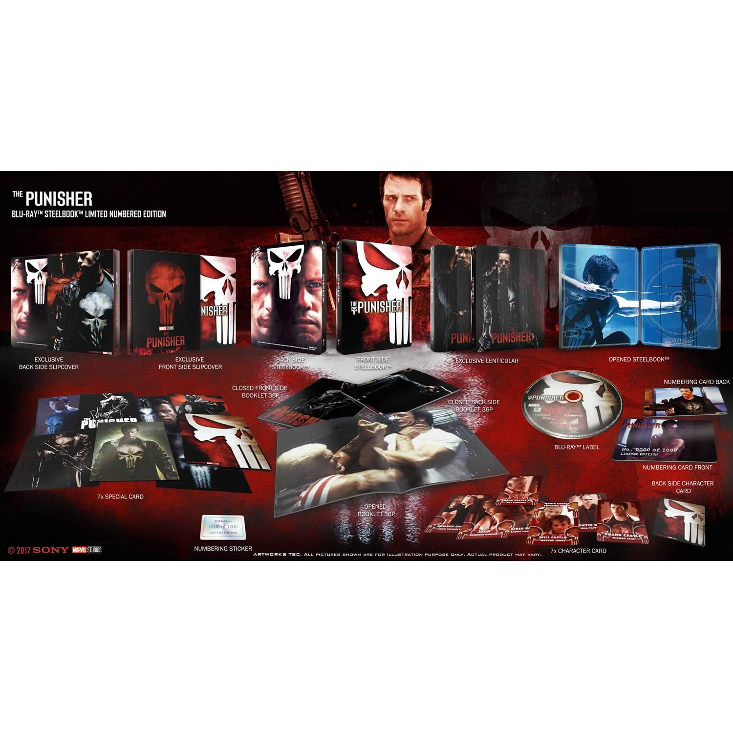 THE PUNISHER - Ο ΤΙΜΩΡΟΣ Limited Collector's Numbered Edition Steelbook + BOOKLET + CARDS (BLU-RAY)