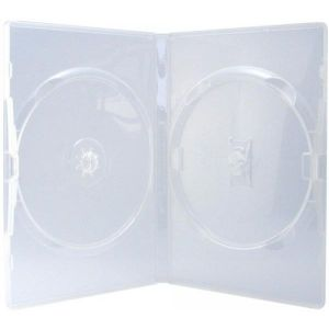 5 EMPTY CASES 14mm 2 DISCS AMARAY Ecolite TRANSPARENT (DVD)