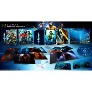 AQUAMAN 2D Limited Collector's Numbered #3 Edition Exclusive Steelbook + BOOKLET + CARDS ΑΠΟΚΛΕΙΣΤΙΚΟ (BLU-RAY 2D)
