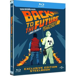 BACK TO THE FUTURE Trilogy 30th ANNIVERSARY Limited Collector's Edition Steelbook [Imported]  (BLU-RAY)
