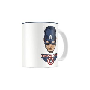 CAPTAIN AMERICA: CIVIL WAR - TEAM CAP WHITE - BLUE CERAMIC MUG (SDTMAR20432)