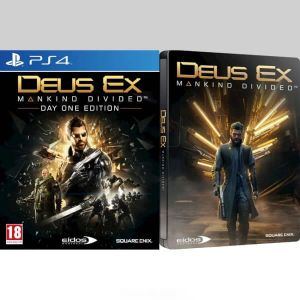 DEUS EX: MANKIND DIVIDED - DAY ONE Limited Edition Steelbook (PS4)