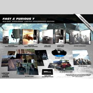 FAST & FURIOUS 7 Extended - ΜΑΧΗΤΕΣ ΤΩΝ ΔΡΟΜΩΝ 7 Extended Limited Collector's Edition Steelbook + CARDS ΑΠΟΚΛΕΙΣΤΙΚΟ (BLU-RAY)