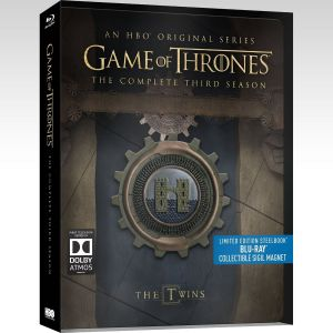 GAME OF THRONES: THE COMPLETE 3nd SEASON - Limited Edition Steelbook [Εισαγωγής ΜΕ ΕΛΛΗΝΙΚΟΥΣ ΥΠΟΤΙΤΛΟΥΣ] (BLU-RAY)