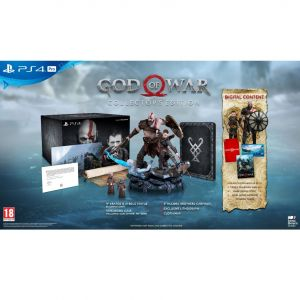 GOD OF WAR [ΕΛΛΗΝΙΚΟ] Collector's Edition Steebook + DAY 1 PreORDER BONUS Shields Pack (PS4)