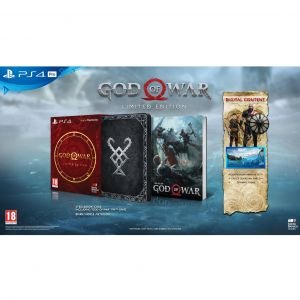 GOD OF WAR [ΕΛΛΗΝΙΚΟ] Limited Edition Steebook + DAY 1 PreORDER BONUS Shields Pack (PS4)