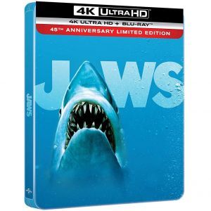 JAWS 4K+2D 45th Anniversary Limited Edition Steelbook (4K UHD BLU-RAY + BLU-RAY)