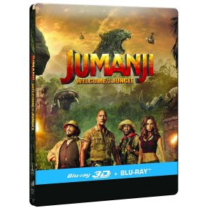 JUMANJI 2: WELCOME TO THE JUNGLE 3D+2D - JUMANJI 2: ΚΑΛΩΣ ΗΡΘΑΤΕ ΣΤΗ ΖΟΥΓΚΛΑ 3D+2D Limited Edition Steelbook ΑΠΟΚΛΕΙΣΤΙΚΟ (BLU-RAY 3D + BLU-RAY 2D)