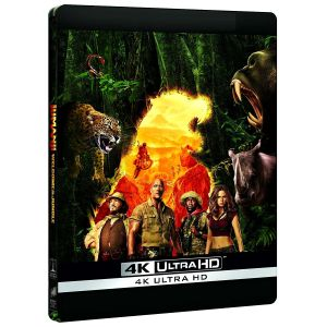 JUMANJI 2: WELCOME TO THE JUNGLE 4K+2D - JUMANJI 2: ΚΑΛΩΣ ΗΡΘΑΤΕ ΣΤΗ ΖΟΥΓΚΛΑ 4K+2D Limited Edition Steelbook ΑΠΟΚΛΕΙΣΤΙΚΟ (4K UHD BLU-RAY + BLU-RAY 2D)