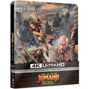 JUMANJI 3: THE NEXT LEVEL 4K+2D - JUMANJI 3: Η ΕΠΟΜΕΝΗ ΠΙΣΤΑ 4K+2D Limited Edition Steelbook ΑΠΟΚΛΕΙΣΤΙΚΟ (4K UHD BLU-RAY + BLU-RAY 2D)