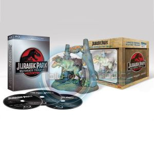 JURASSIC PARK TRILOGY - BOXSET WITH FIGURINE T-REX (BLU-RAY)