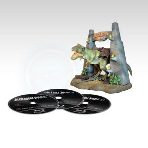 JURASSIC PARK TRILOGY - BOXSET WITH FIGURINE T-REX Limited Collector's Edition [Εισαγωγής ΜΕ ΕΛΛΗΝΙΚΟΥΣ ΥΠΟΤΙΤΛΟΥΣ] (3 BLU-RAYs)