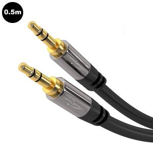 KABELDIREKT - PRO SERIES: 3.5mm Mini Jack STEREO AUDIO CABLE (Male to Male) 0.5m