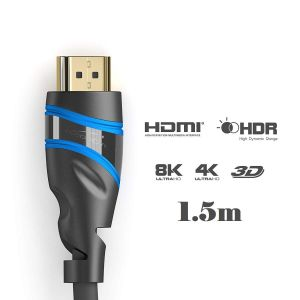 KABELDIREKT - TOP SERIES: ULTRA HIGH SPEED HDMI to HDMI 2.1 CABLE 8K/4K/3D/HDR/ARC/ETHERNET 1,5m