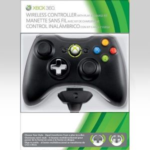 MICROSOFT OFFICIAL XBOX 360 WIRELESS CONTROLLER Black + PLAY & CHARGE KIT Black - MICROSOFT ΕΠΙΣΗΜΟ ΑΣΥΡΜΑΤΟ ΧΕΙΡΙΣΤΗΡΙΟ ΜΑΥΡΟ + PLAY & CHARGE KIT ΜΑΥΡΟ (XBOX 360)