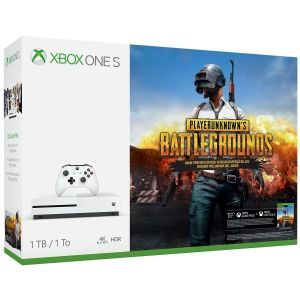 MICROSOFT XBOX ONE S CONSOLE 1TB White + PLAYERUNKNOWN'S BATTLEGROUNDS - Game Preview (CODE IN A BOX) Bundle