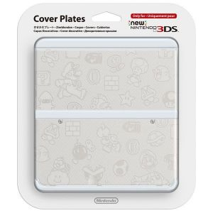NEW NINTENDO 3DS COVERPLATE 012 Super Mario White (New 3DS)