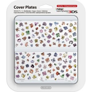NEW NINTENDO 3DS COVERPLATE 031 Pokemon Characters White (New 3DS)