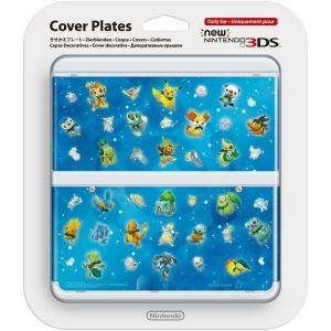 NEW NINTENDO 3DS COVERPLATE 030 Pokemon Characters Blue (New 3DS)