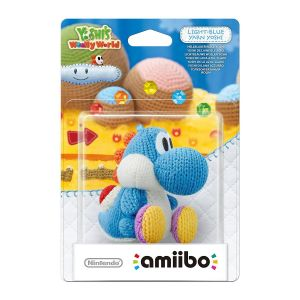 NINTENDO AMIIBO Φιγούρα: LIGHT-BLUE YARN POOCHY YoshI's Woolly World Series