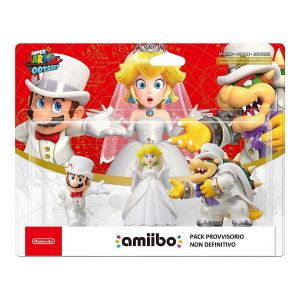 NINTENDO AMIIBO Φιγούρα: MARIO & PEACH & BOWSER WEDDING PACK Super Mario: Odyssey Series