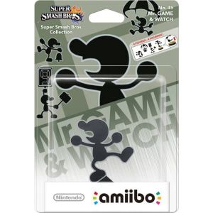 NINTENDO AMIIBO Φιγούρα: MR. GAME & WATCH No.45 Super Smash Bros. Series