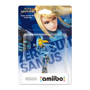 NINTENDO AMIIBO Φιγούρα: ZERO SUIT SAMUS No.40 Super Smash Bros. Series