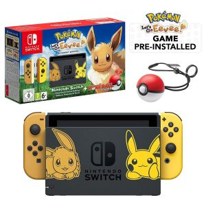 NINTENDO SWITCH CONSOLE JOY-CON 32GB - POKEMON LET'S GO: EEVEE Limited Edition (NSW)