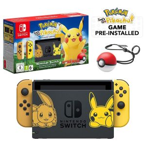 NINTENDO SWITCH CONSOLE JOY-CON 32GB - POKEMON LET'S GO: PIKACHU Limited Edition (NSW)
