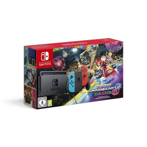 NINTENDO SWITCH CONSOLE Red & Blue JOY-CON 32GB & MARIO KART 8 DELUXE DLC GR - Limited Edition Bundle