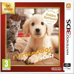 NINTENDOGS + CATS: GOLDEN RETRIEVER AND NEW FRIENDS - SELECTS (3DS, 2DS)