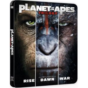 PLANET OF THE APES: TRILOGY - Ο ΠΛΑΝΗΤΗΣ ΤΩΝ ΠΙΘΗΚΩΝ: Η ΤΡΙΛΟΓΙΑ Limited Edition Steelbook (3 BLU-RAY)