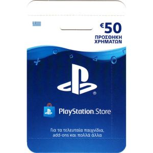 PLAYSTATION STORE WALLET TOP UP PSN LIVE Hanging CARD 50€ - PLAYSTATION STORE ΣΥΜΠΛΗΡΩΜΑ ΠΟΡΤΟΦΟΛΙΟΥ PSN LIVE Κρεμαστή ΚΑΡΤΑ 50€ (PS4, PS3, PS VITA)