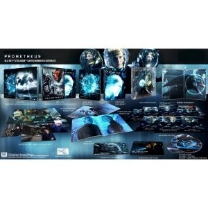 PROMETHEUS 3D+2D Limited Collector's Numbered #2 XL Edition Exclusive Steelbook + BOOKLET + Character & Special CARDS (BLU-RAY 3D + BLU-RAY 2D + BLU-RAY BONUS)