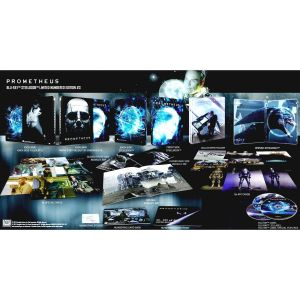 PROMETHEUS 3D+2D Limited Collector's Numbered #3 XL Edition Exclusive Steelbook + BOOKLET + Art & Special CARDS (BLU-RAY 3D + BLU-RAY 2D + BLU-RAY BONUS)