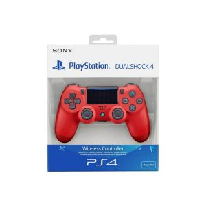 SONY OFFICIAL New WIRELESS CONTROLLER DUALSHOCK 4 v2 Magma Red (PS4)