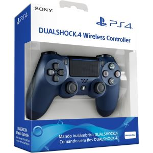 SONY OFFICIAL New WIRELESS CONTROLLER DUALSHOCK 4 v2 Midnight Blue (PS4)