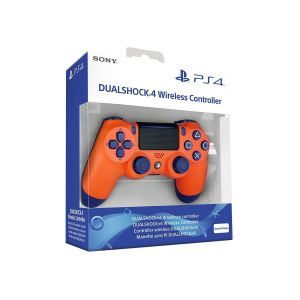 SONY OFFICIAL New WIRELESS CONTROLLER DUALSHOCK 4 v2 Sunset Orange (PS4)