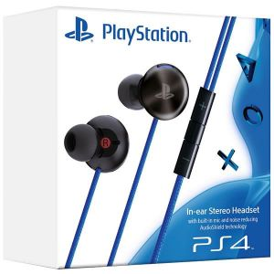 SONY OFFICIAL PLAYSTATION 4 In-Ear Stereo Headset Black - SONY ΕΠΙΣΗΜΑ In-Ear ΣΤΕΡΕΟΦΩΝΙΚΑ ΑΚΟΥΣΤΙΚΑ ΜΑΥΡΑ (PS4)