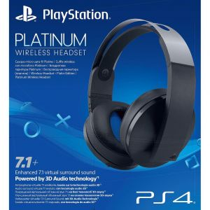 SONY OFFICIAL WIRELESS HEADSET 7.1 PLATINUM Jet Black (PS4)