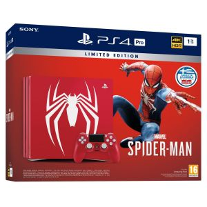 SONY PS4 CONSOLE PRO 1TB Amazing Red MARVEL'S SPIDER-MAN Limited Edition + MARVEL'S SPIDER-MAN [ΕΛΛΗΝΙΚΟ] Standard Edition (PS4)