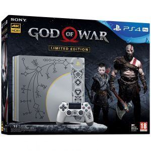 SONY PS4 CONSOLE PRO 1TB CUH-7116B Leviathan Grey GOD OF WAR Limited Edition + GOD OF WAR [ΕΛΛΗΝΙΚΟ] + DAY 1 PreORDER BONUS Shields Pack (PS4)