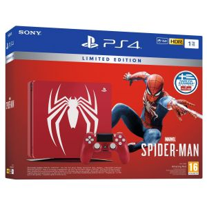 SONY PS4 CONSOLE Slim 1TB Amazing Red MARVEL'S SPIDER-MAN Limited Edition + MARVEL'S SPIDER-MAN [ΕΛΛΗΝΙΚΟ] Standard Edition (PS4)