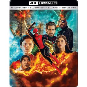 SPIDER-MAN: FAR FROM HOME 4K+3D+2D - SPIDER-MAN: ΜΑΚΡΙΑ ΑΠΟ ΤΟΝ ΤΟΠΟ ΤΟΥ 4K+3D+2D Limited Edition Steelbook VISUAL #2 ΑΠΟΚΛΕΙΣΤΙΚΟ (4K UHD BLU-RAY + BLU-RAY 3D + BLU-RAY 2D + BLU-RAY BONUS)